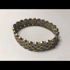 Reversible silver/gold bracelet